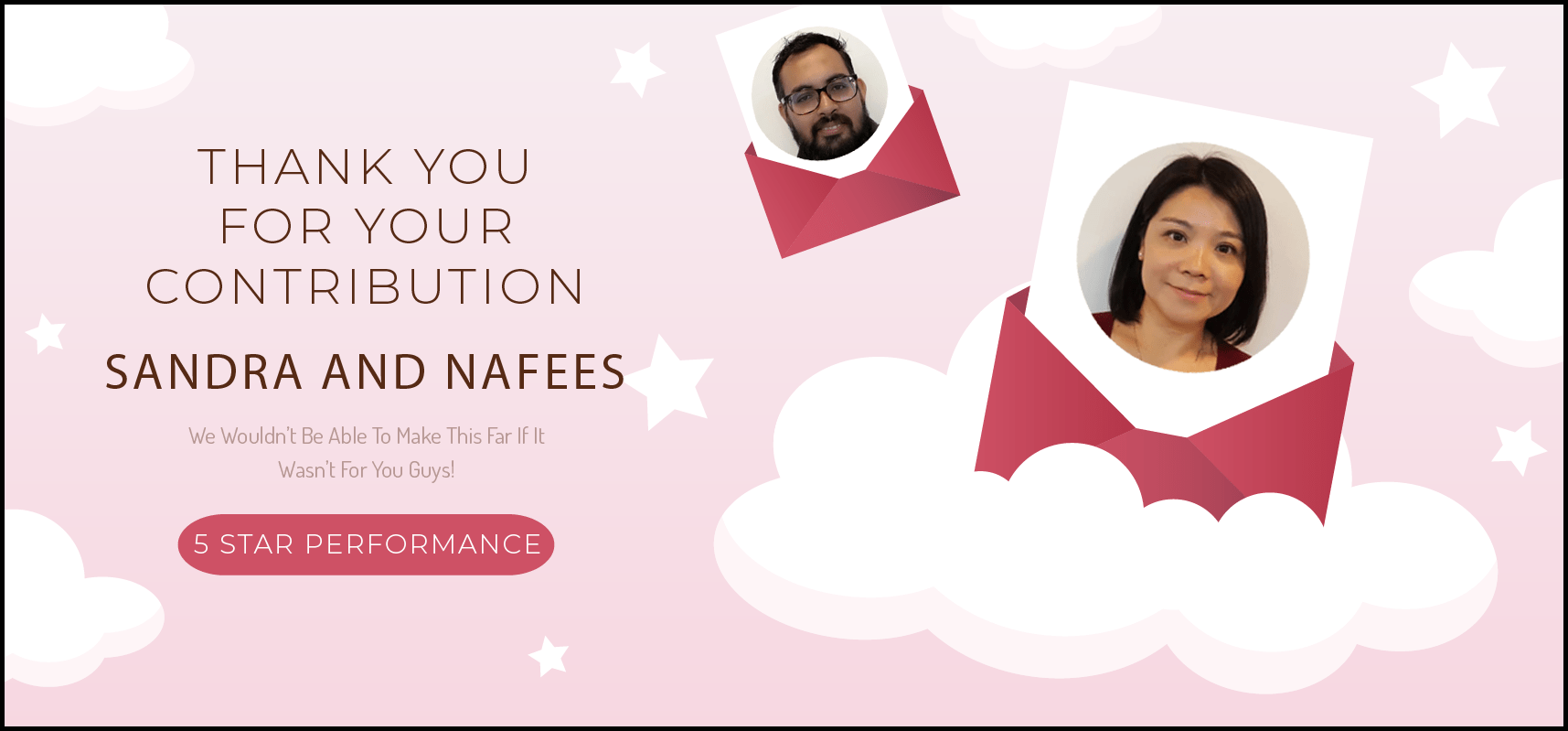 Sandra and Nafees Banner